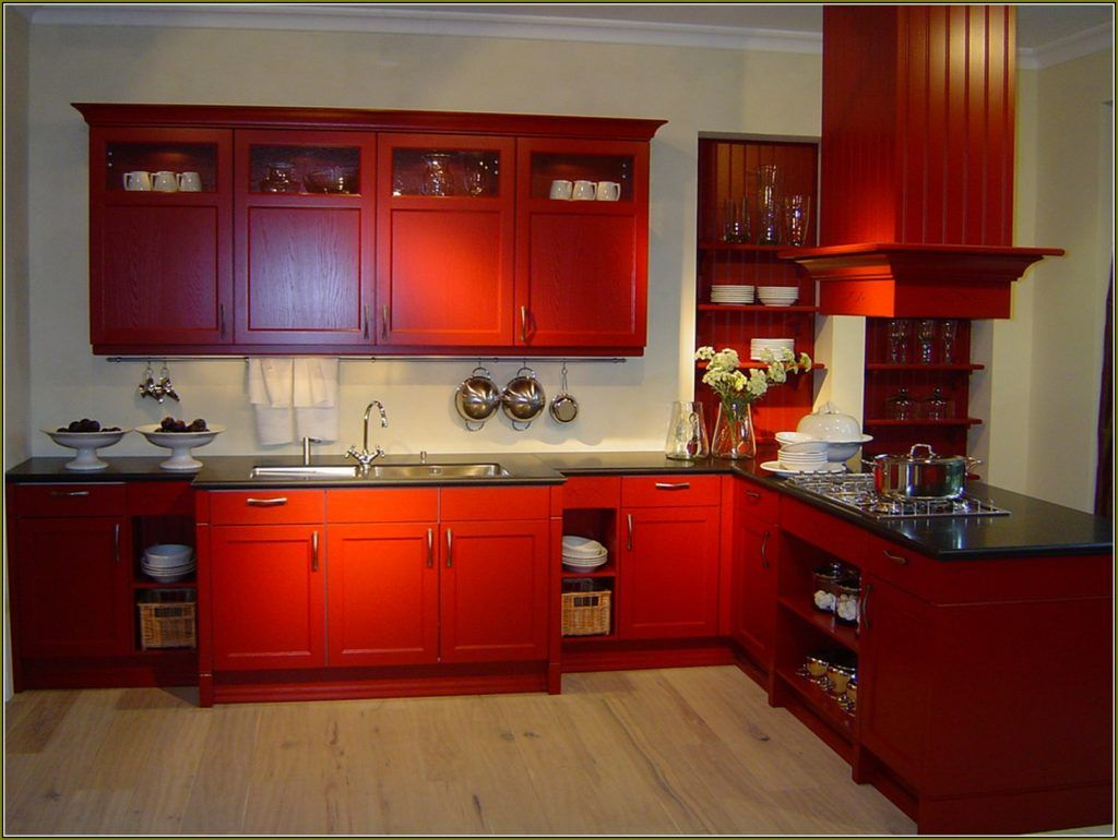 barn red kitchen cabinets architecture residential kitchen rh pinterest com