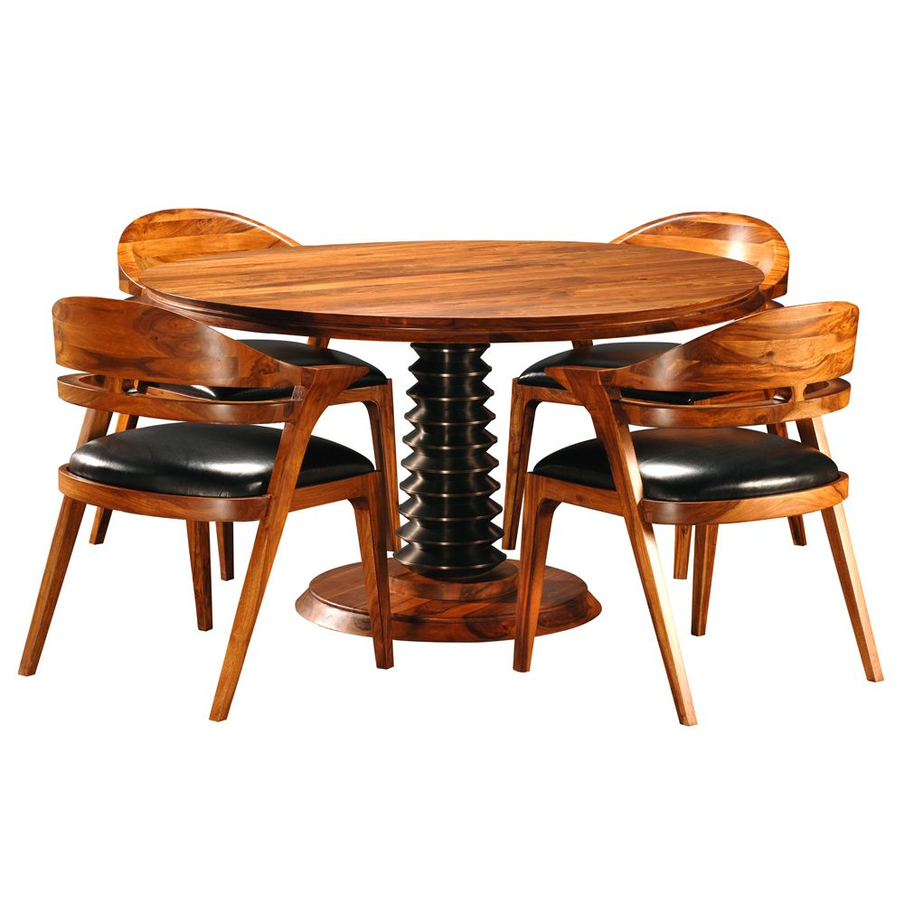 Salerno Round Dining Table u0026 Chairs by