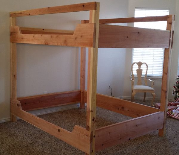 California king over king Bunk Bed redwood | girls rooms