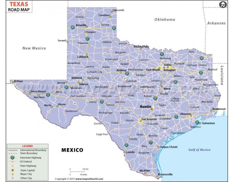 Buy Texas Road Map Texas Road Map Map Us State Map
