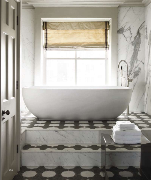 soaker tub in front of a window and lovely marble tile baths and b rh uk pinterest com