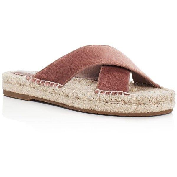 Joie Ianna Velvet Crisscross Espadrille Slide Sandals jrL8mY