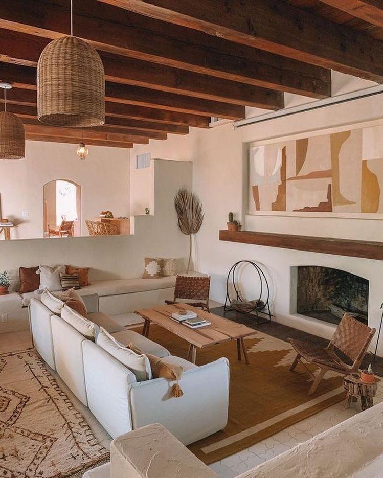 Salon Bohemio Casas De Estilo Rustico Decoracion Casas Rurales