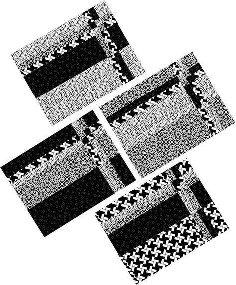 Take Four Placemats Pattern Downloadable Beginner Placemats Patterns Quilted Placemat Patterns Place Mats Quilted