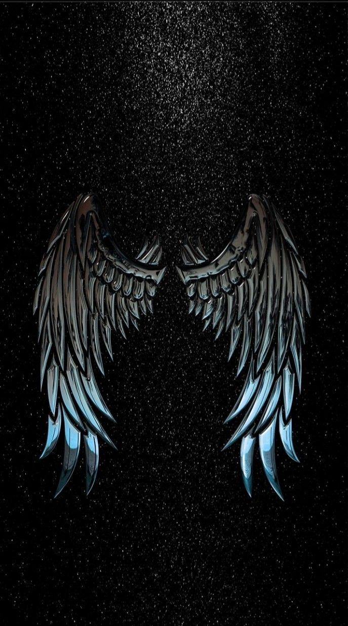 Metallic Wings Background Wallpaper Wings Wallpaper Angel Wings Art Angel Wallpaper