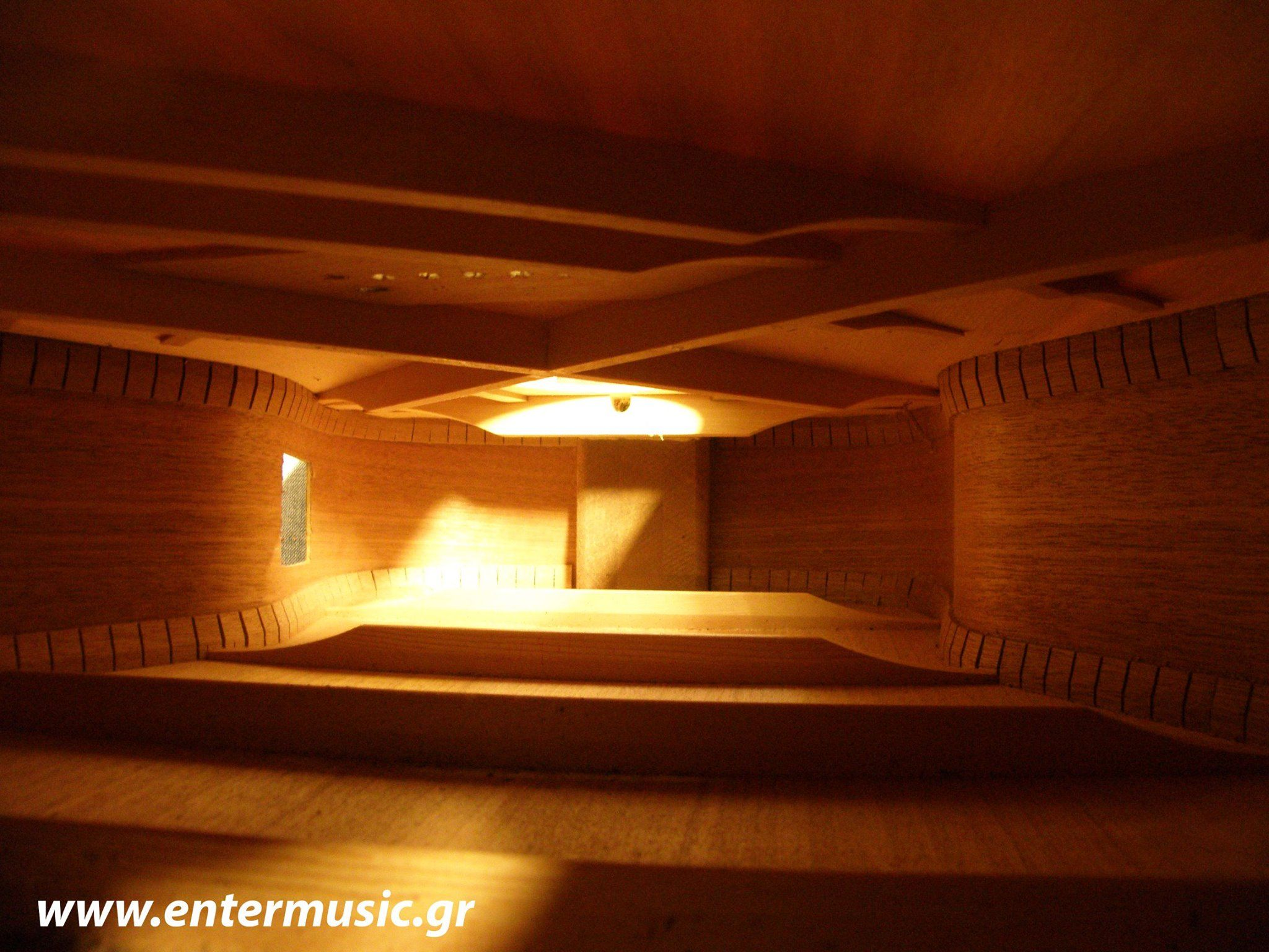 this is not a room this is the inside of an acoustic guitar