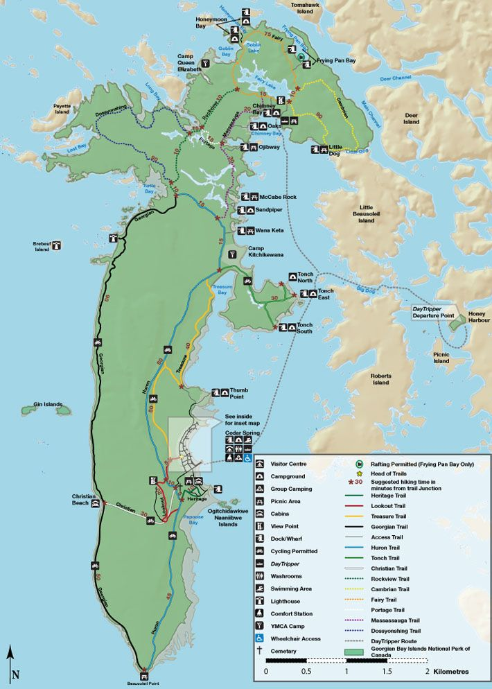 Hiking Trails On Beausoleil Island Georgian Bay Islands National Park In Honey Harbour Georgian Bay Islands National Park National Parks Map Parks Canada