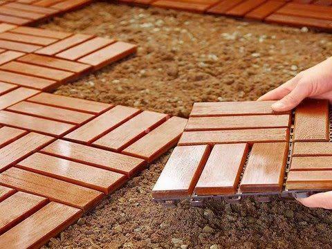 Inexpensive Outdoor Diy Flooring Option Outdoor Flooring Patio