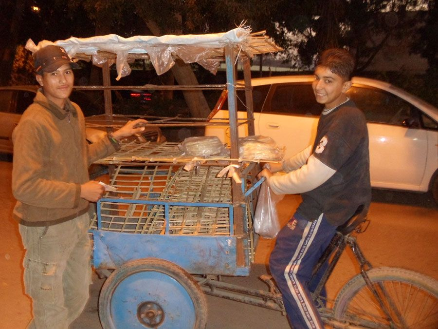 Baladi bread on bikes