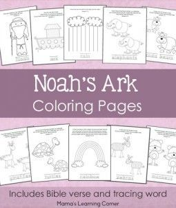 Noah\'s Ark Coloring Pages - 11-page free printable download ...