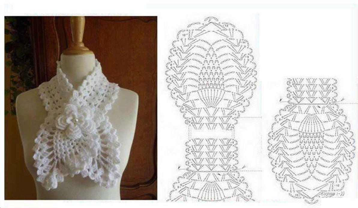 562 Bufanda a Crochet o Ganchillo | crochet | Pinterest | Patrones ...