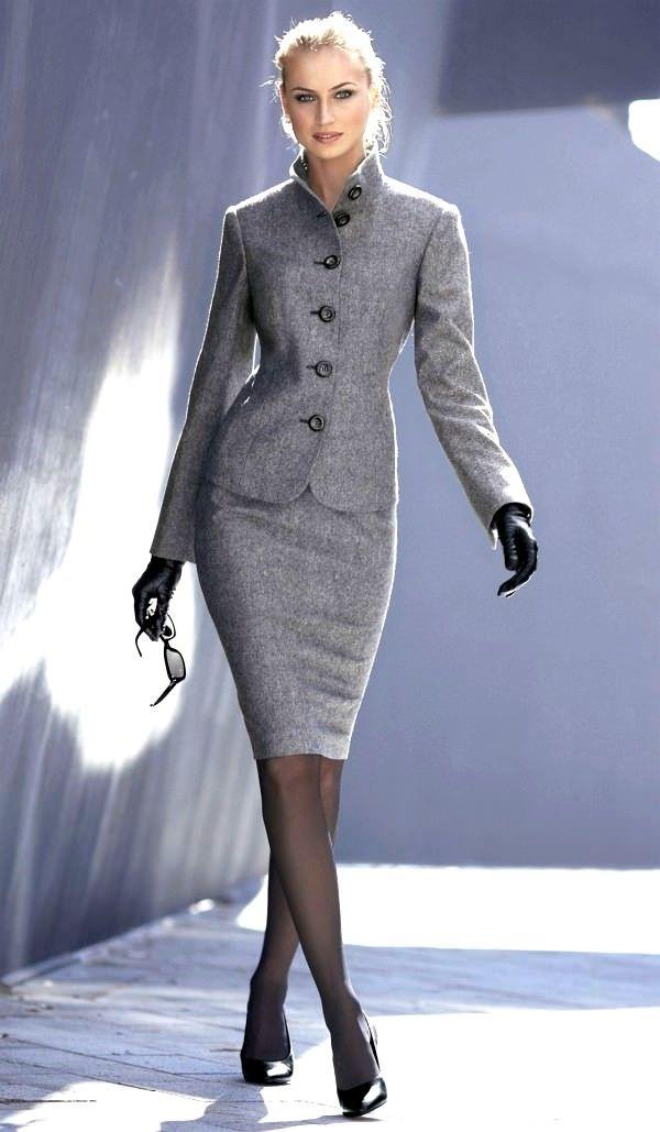 Calisan Bayanlara Kislik Takim Elbiseler Elegantes Outfit Outfit Kleider Mode