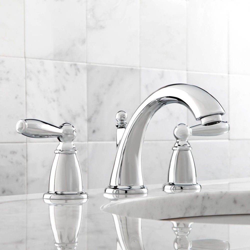 Moen T Brantford Polished Chrome Two Handle Widespread - 8 widespread bathroom sink faucets for bathroom decor ideas
