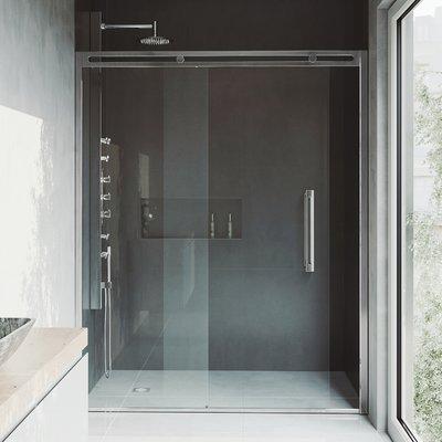 vigo erie 73 5 x 60 5 sliding adjustable framed shower door finish rh pinterest ch