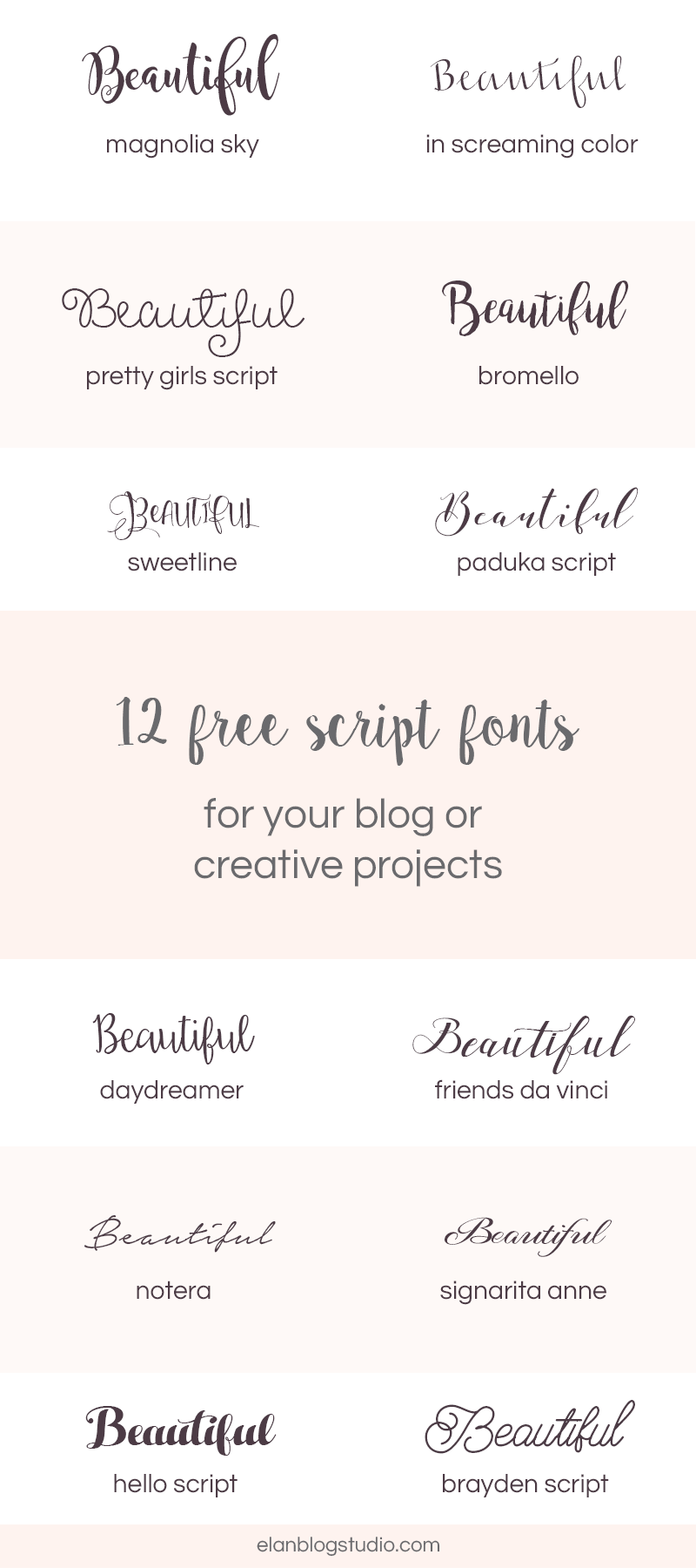 12 Beautiful Script Fonts Diy Design Cricut Fonts Pretty