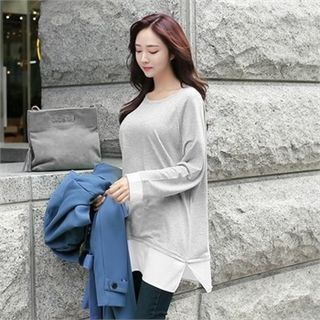 Buy ZIZIBEZIRONG Round-Neck Layered-Hem Top at YesStyle.com! Quality products at remarkable prices. FREE WORLDWIDE SHIPPING on orders over CA$ 45.