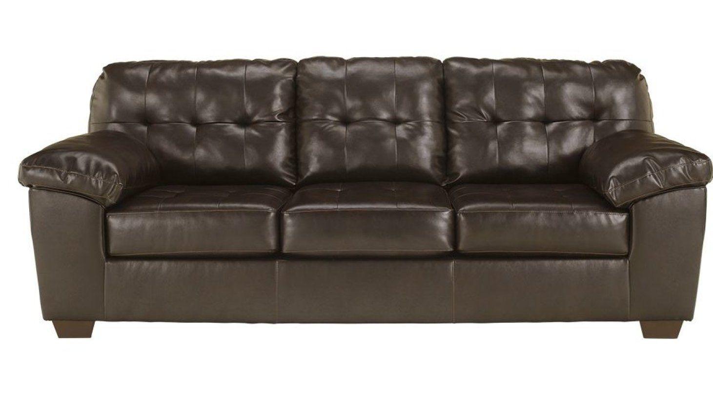 Delightful Trent Leather Queen Sleeper Sofa
