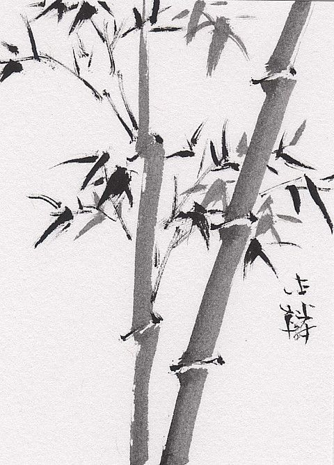 Chinese Brush Painting Bamboo Chinese Brush Painting Sumi E