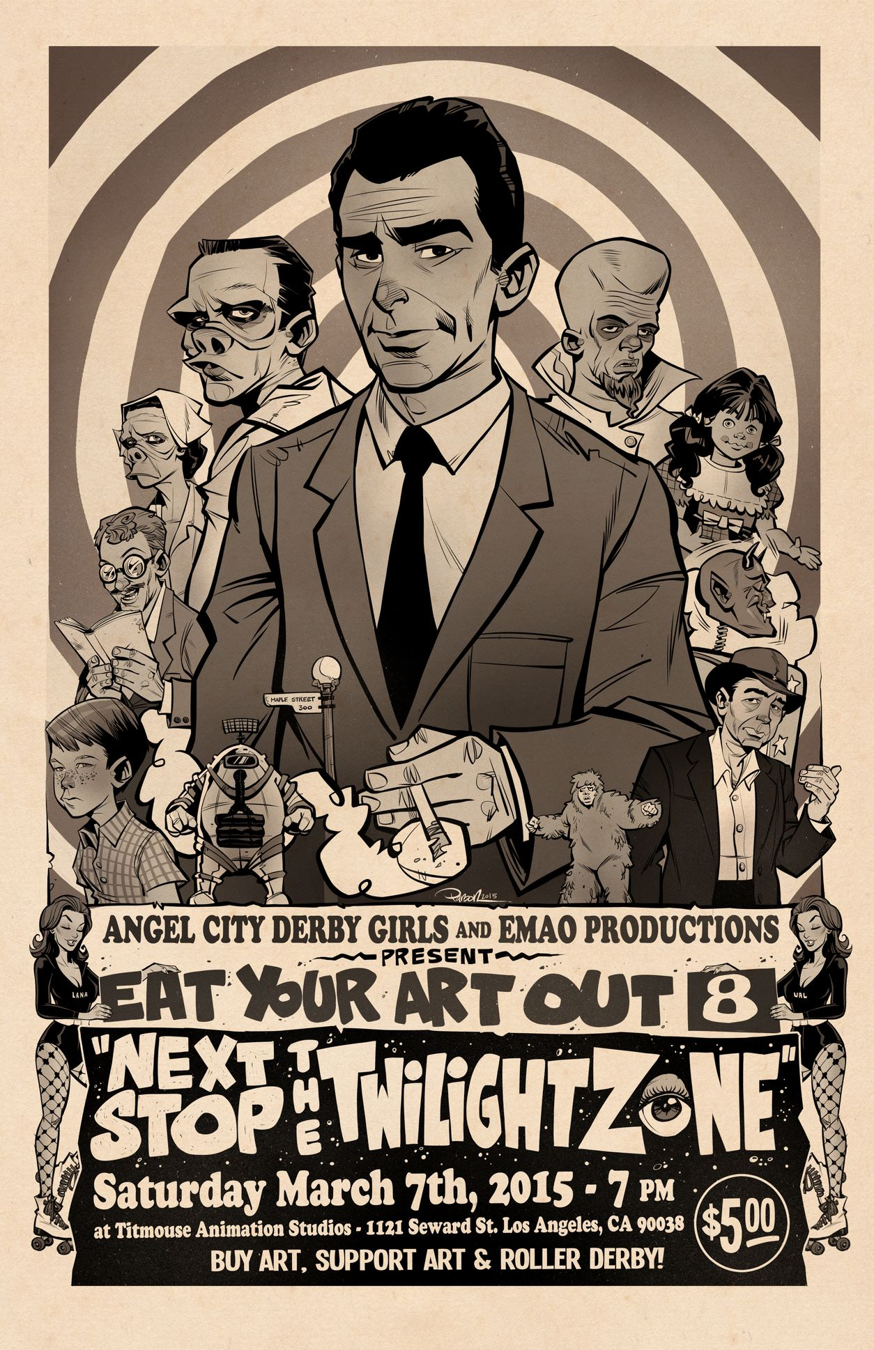Project: Twilight Zone Poster : Eat Your Art Out 8 | Illustrator: Brett  Parson #popculture