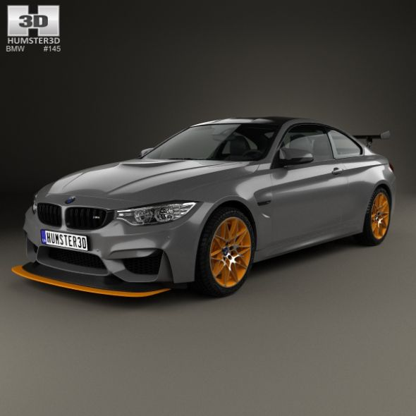 BMW M4 GTS Concept 2015. Fully Editable And Reusable 3D