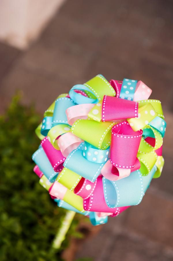Great Adorable RIBBON TOPIARY Via Karau0027s Party Ideas | Karaspartyideas.com Design