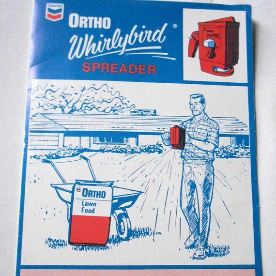 vintage chevron ortho whirlybird spreader lawn fertilizer chevron rh pinterest com ortho whirlybird spreader instructions ortho whirlybird spreader instructions
