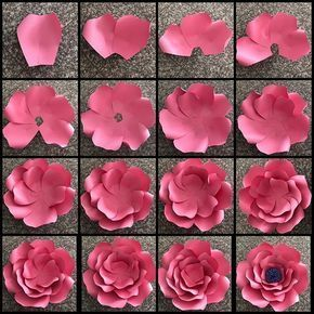 I also made a picture tutorial just so you can get a closer look on how i put template 17 together #paperflowersdiy