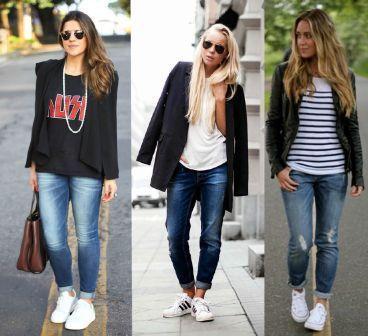 b387bd43bac tenis branco com calça jeans