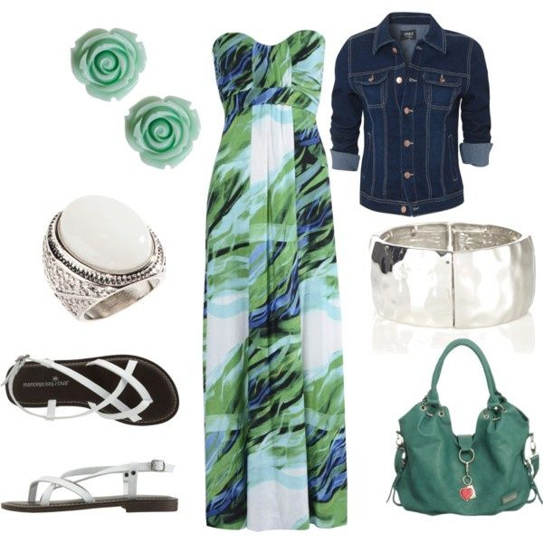 Mint, Blue and White, created by kmwiseman my-dream-closet