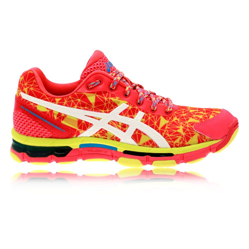 4ff2b4242a2d6 Asics Gel-Netburner Professional 11 Womens Pink Yellow Trainers Netball  Shoes
