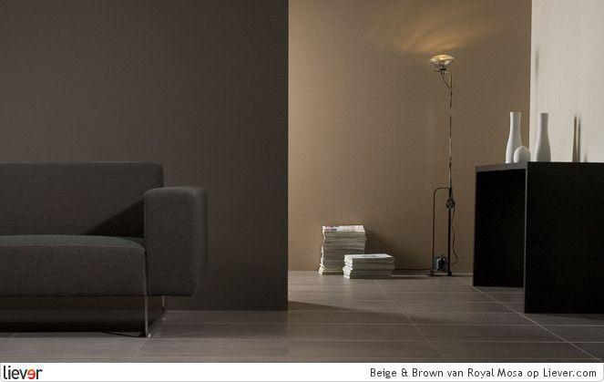 Pin van esther op huis pinterest muur grijs en zoeken - Bruine en beige badkamer ...