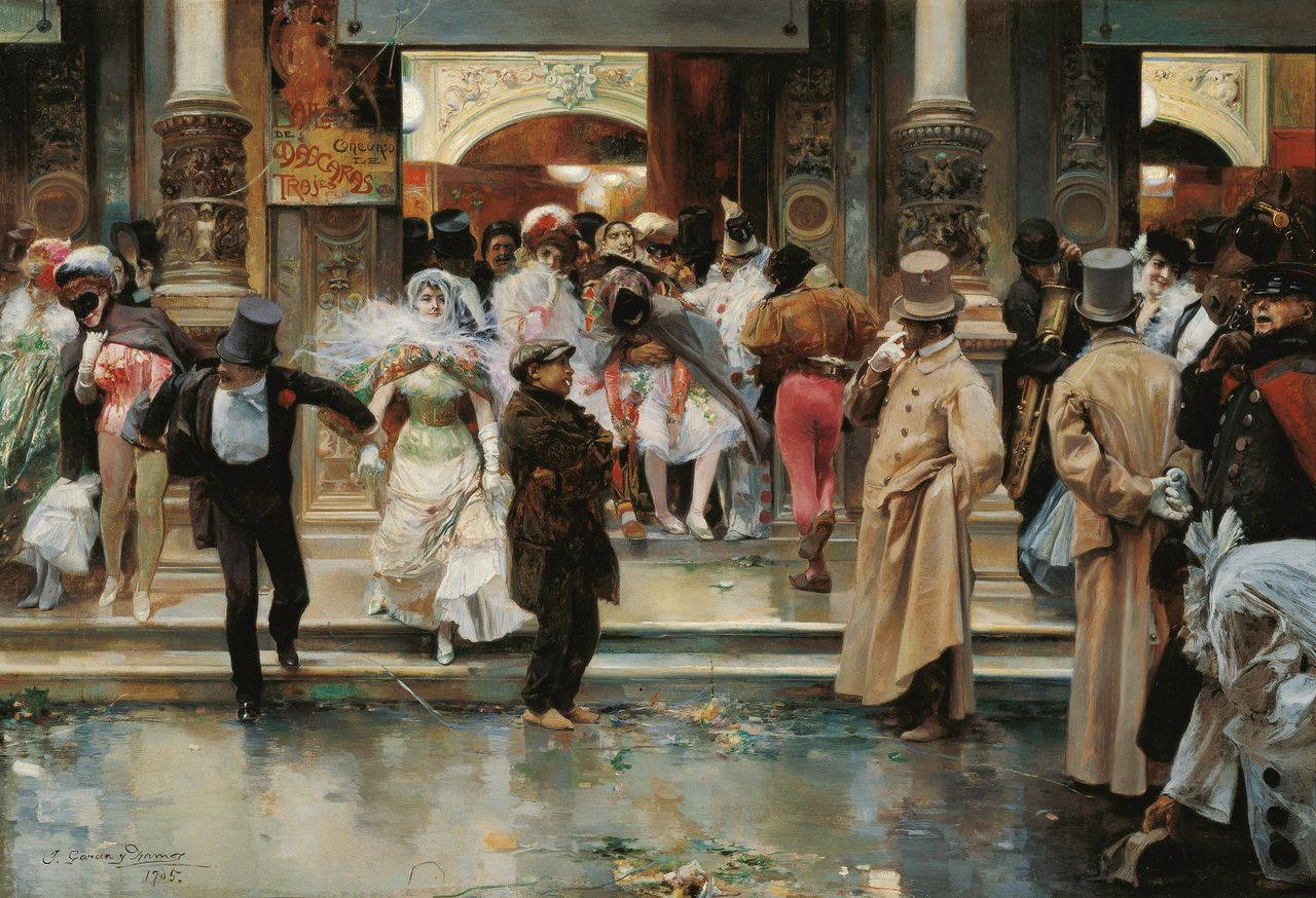 Leaving a Masked Ball, 1895, Jose Ramos