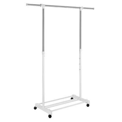 Home Depot Garment Rack Delectable Deluxe Adjustable Garment Rack With Wheels White Home Pinterest
