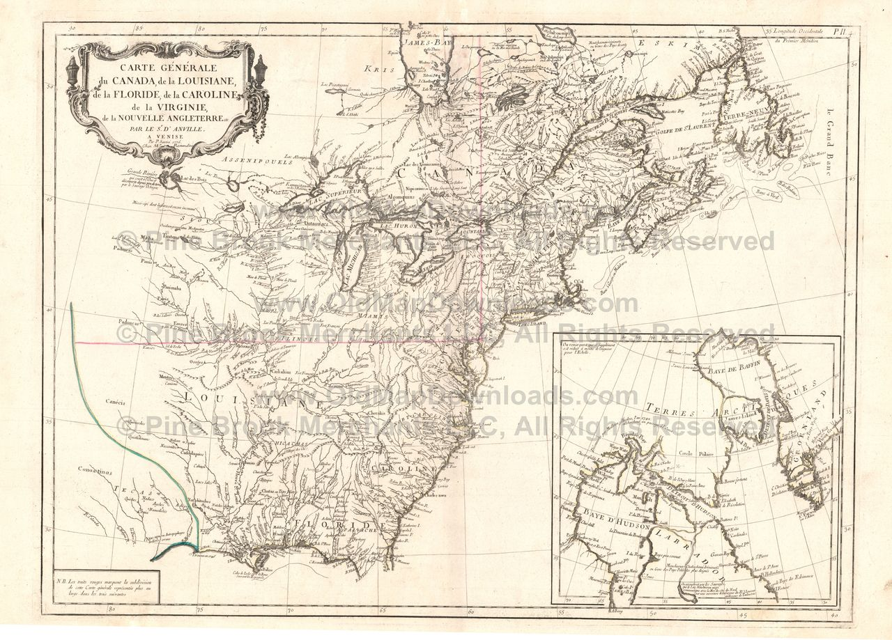 American Colonies Old Map DAnville  JPEG Digital Image Scan - Map of united states download
