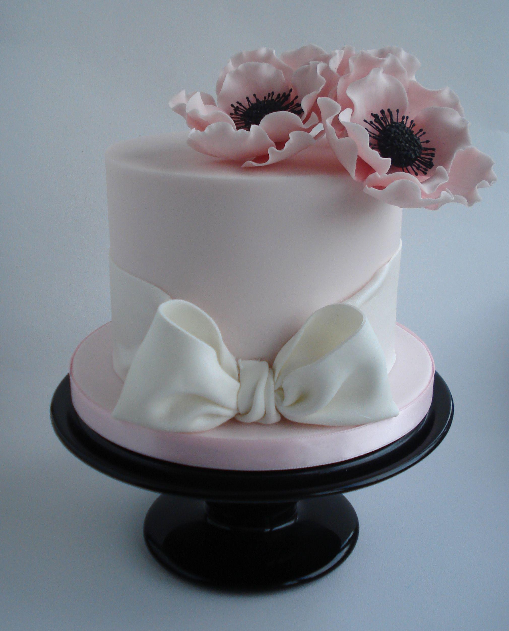 Birthday Cakes pretty anemone flower cake x Elegant Cakes