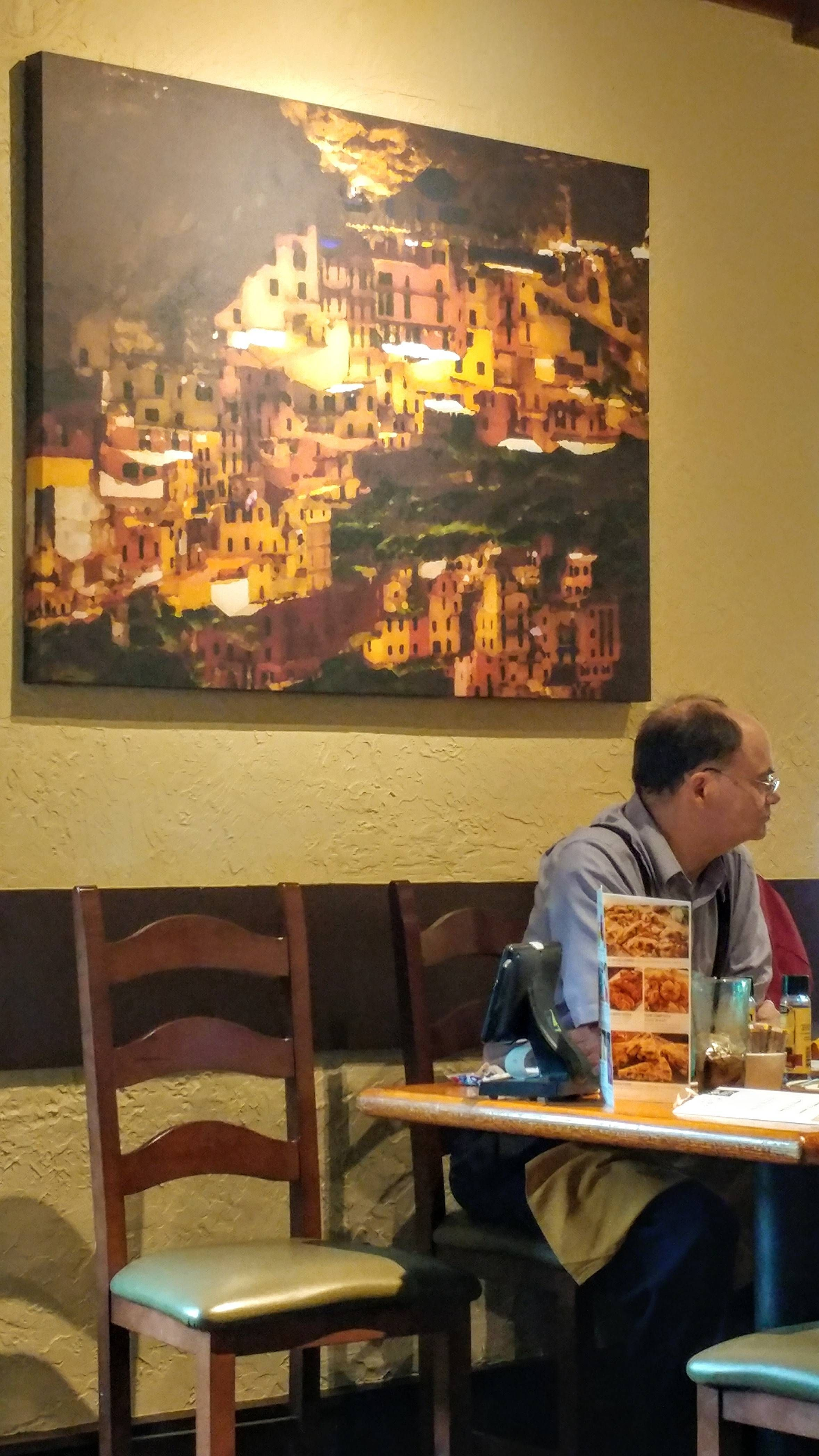 This painting at my local Olive Garden is upside down | Pets Funny ...