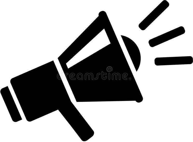 Megaphone Message Icon Occupation Vector Clip Art Free Clip Art Art Images