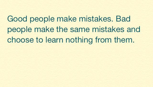 Lets Learn From Our Mistakes Quote Quotes Pinterest Quotes