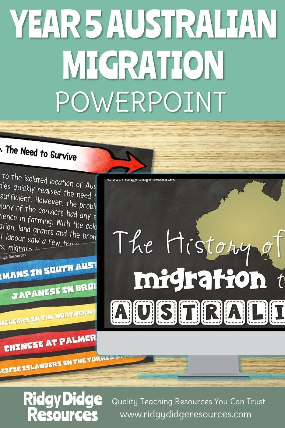 Year 5 Migration to Australia Informative Powerpoint and