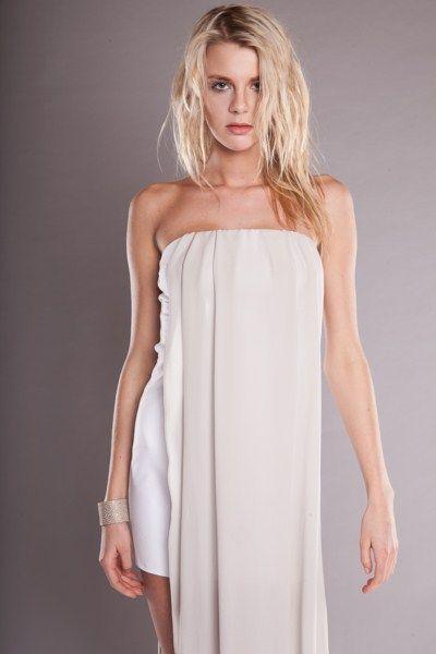 dress with grey silk