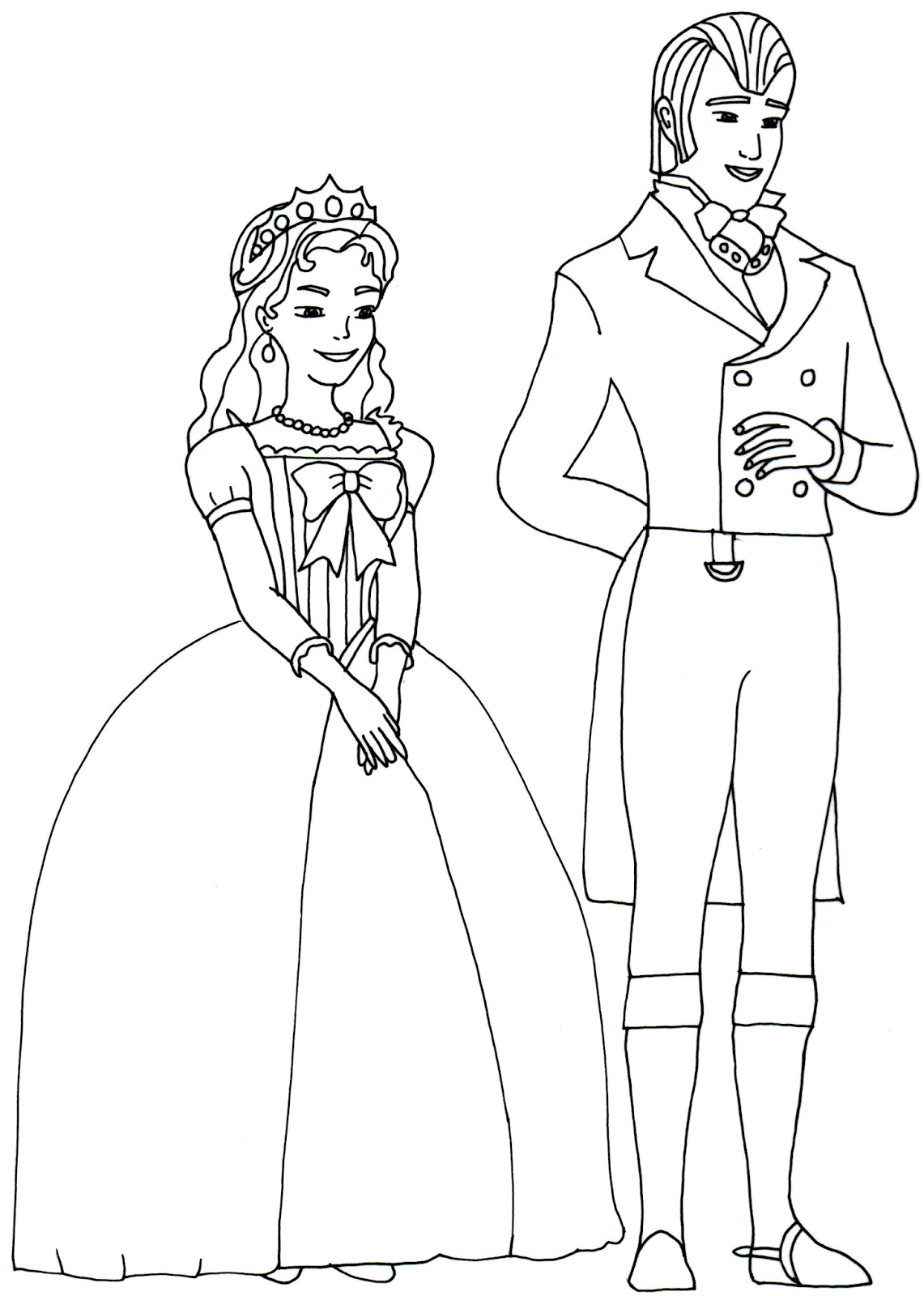 King And Queen Sofia The First Coloring Page Coloring For Kids