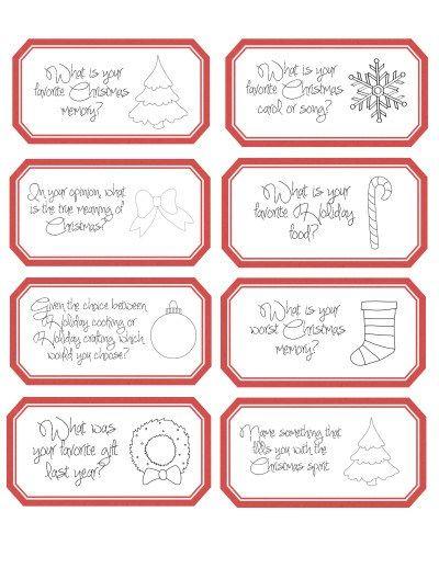 Christmas Countdown Conversation Cards Free printable - countdown calendar template