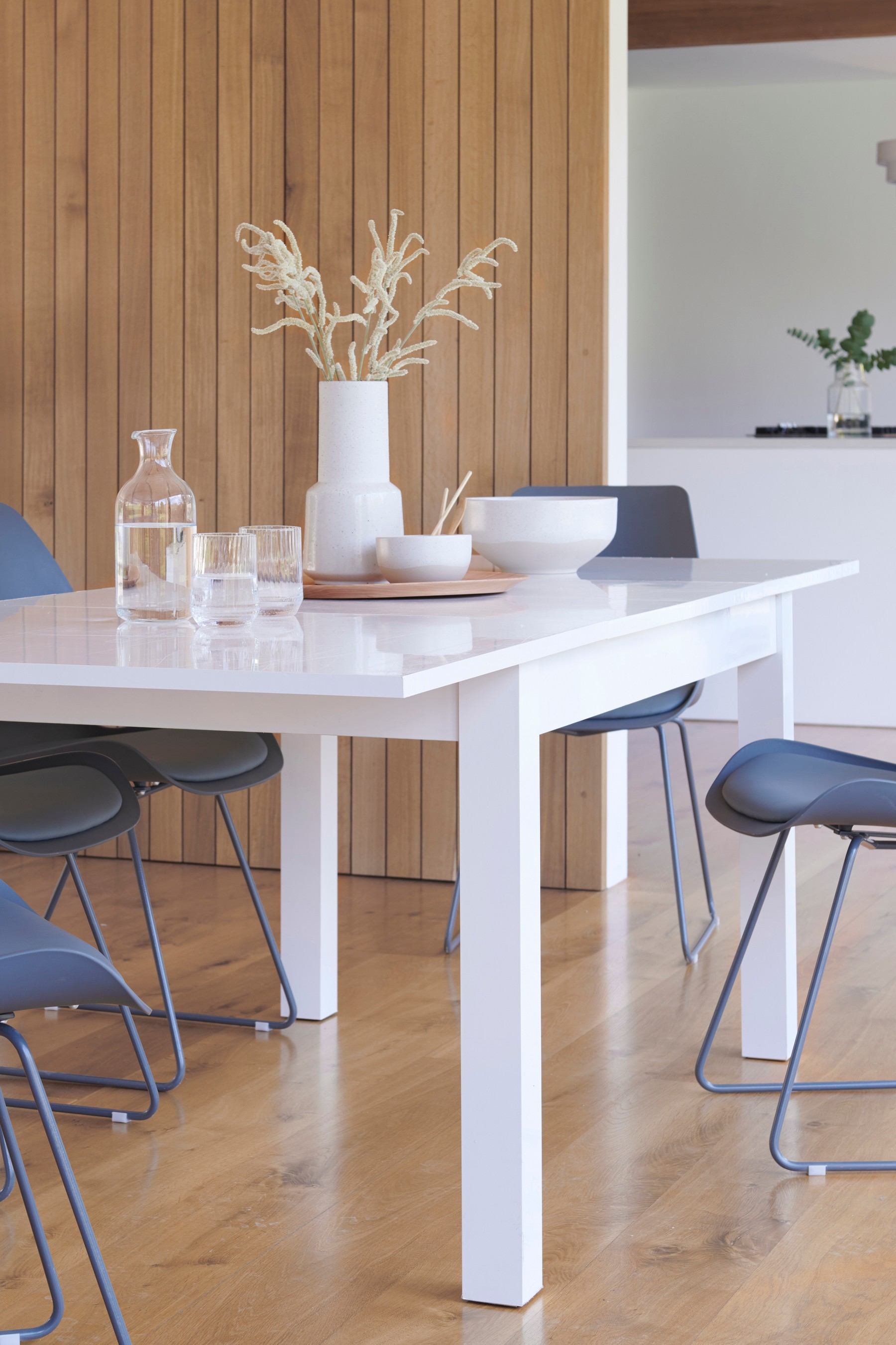 Next White Gloss Double Extending Dining Table