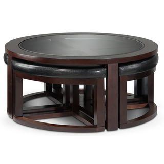 Emma Coffee Table W Four Ottomans