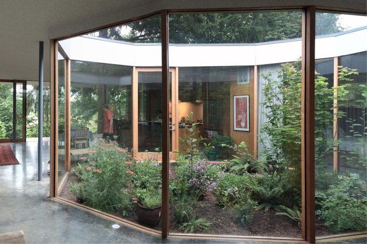 Bekannt Innengarten mittig im Haus hinter Verglasung platzieren | Home HK73