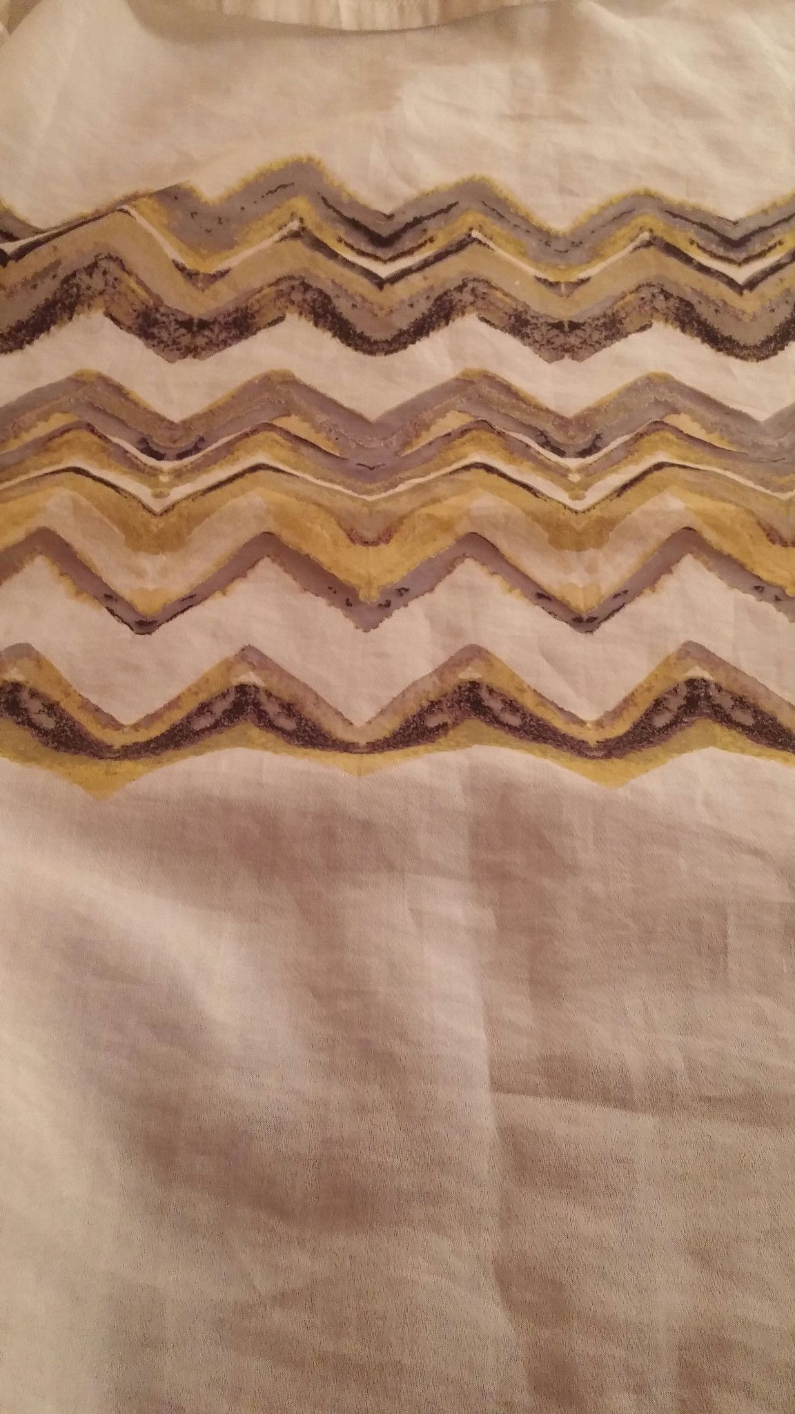 ## #Shower Curtain #Chevron Gold Yellow & Gray & Black #Threshold (Target) Brand Like #NEW