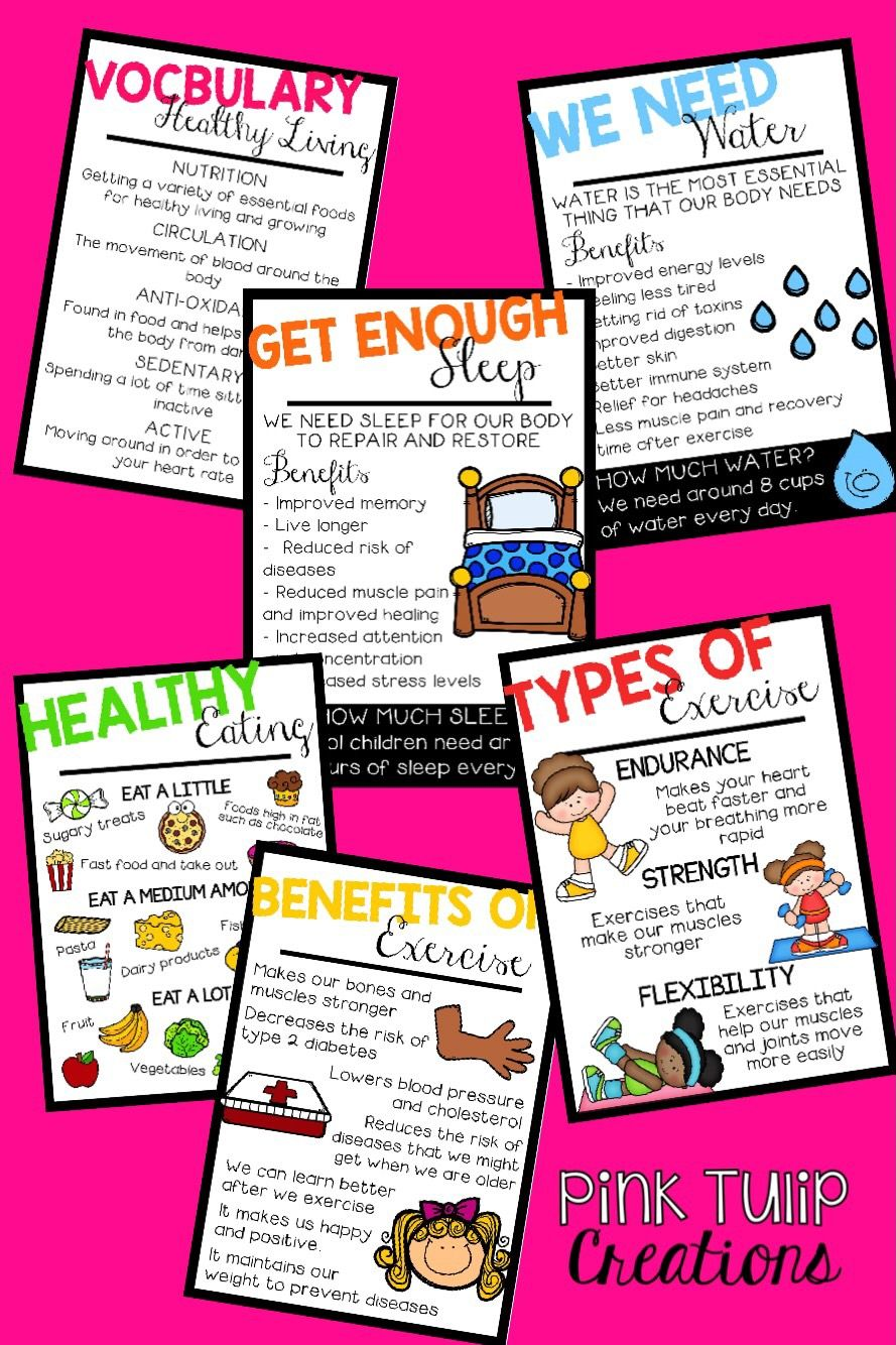 Brighten Up Your Classroom With These 6 Colorful And Educational Healthy Living Posters