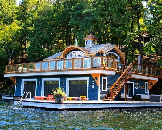 Boat House House Boat Houseboat Living Floating House