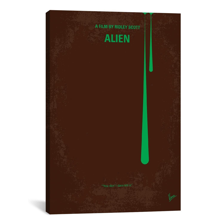 Alien alien classic movie posters gallery wrap canvas