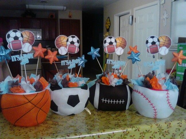 Superior All Sports Baby Shower Table Centerpieces